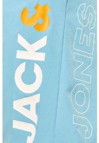 Niebieskie kąpielówki Jack & Jones z nadrukiem