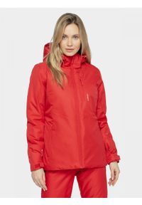 Czerwona kurtka narciarska outhorn na zimę