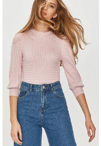 Różowy sweter Answear Lab wakacyjny, na co dzień