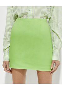 THE ANDAMANE - Limonkowa spódnica mini. Stan: podwyższony. Kolor: zielony