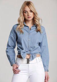 Renee - Niebieska Koszula Ileriko. Kolor: niebieski