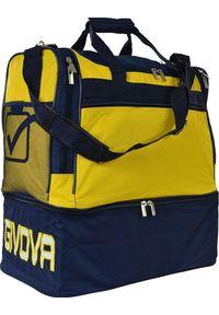 Givova Torba Givova Medium żółto granatowa. Kolor: niebieski, żółty, wielokolorowy