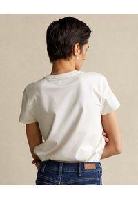 Ralph Lauren - RALPH LAUREN - Biały t-shirt z sercem. Typ kołnierza: polo. Kolor: biały. Materiał: bawełna #2