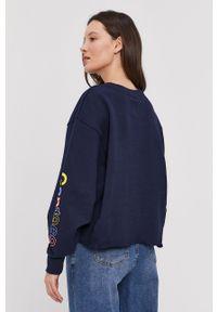 GAP - Bluza bawełniana. Kolor: niebieski. Materiał: bawełna. Wzór: nadruk