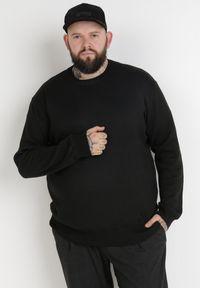Born2be - Czarny Sweter Z Wełną Orameia. Kolekcja: plus size. Kolor: czarny. Materiał: wełna. Styl: klasyczny