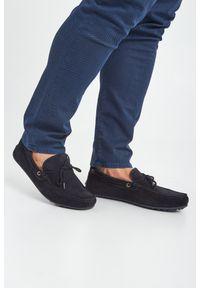 Trussardi Jeans - MOKASYNY TRUSSARDI. Materiał: zamsz, skóra