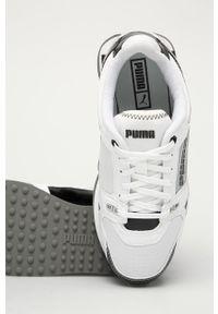 Białe buty sportowe Puma z okrągłym noskiem, na sznurówki