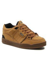 Globe - Sneakersy GLOBE - Fusion Golden Brown 17174. Okazja: na co dzień. Kolor: brązowy. Materiał: skóra ekologiczna, skóra. Szerokość cholewki: normalna. Styl: elegancki, sportowy, casual