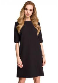 Style - Klasyczna minimalistyczna sukienka. Materiał: elastan. Typ sukienki: proste. Styl: klasyczny
