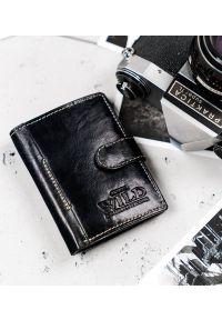 ALWAYS WILD - Mały portfel męski czarny Always Wild N915L-VTK-BOX-4411 B. Kolor: czarny. Materiał: skóra