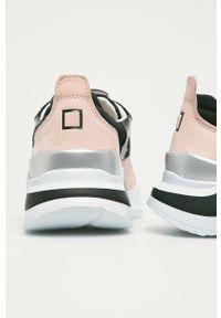 Czarne buty sportowe D.A.T.E. z cholewką, na sznurówki