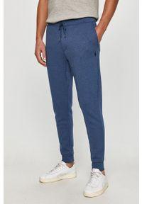 Niebieskie spodnie dresowe Polo Ralph Lauren melanż