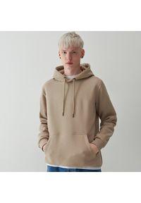 Reserved - Dresowa bluza z kapturem - Beżowy. Typ kołnierza: kaptur. Kolor: beżowy. Materiał: dresówka