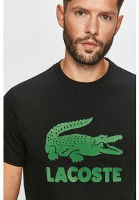Czarny t-shirt Lacoste z nadrukiem
