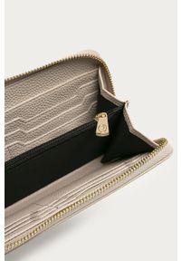 Kremowy portfel Trussardi Jeans gładki