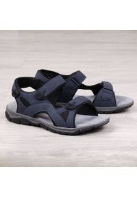 Niebieskie sandały American Club sportowe, na rzepy