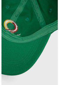 United Colors of Benetton - Czapka. Kolor: zielony
