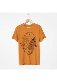 Brązowy t-shirt House z nadrukiem