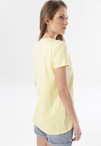 Żółty t-shirt Born2be