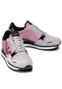 Różowe buty sportowe Emporio Armani