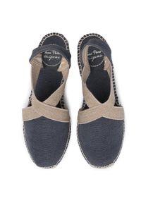 Niebieskie sandały Toni Pons casualowe, na obcasie, na co dzień, na średnim obcasie