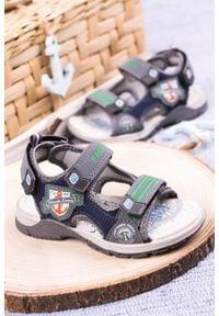 Casu - szare sandały na rzepy casu jf01. Zapięcie: rzepy. Kolor: szary