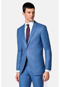 Lancerto - Garnitur Szafirowy Macau. Kolor: niebieski. Materiał: bawełna, materiał, wełna, tkanina, zamsz
