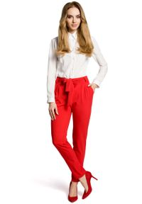 Czerwone spodnie MOE eleganckie