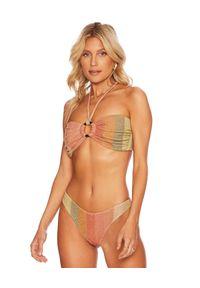 BEACH RIOT - Top od bikini Yasmin. Kolor: beżowy. Materiał: materiał