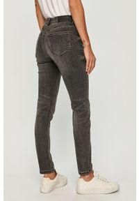 Szare jeansy Desigual z podwyższonym stanem #4