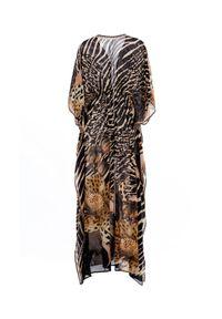 AGUA BENDITA - Długa tunika z motywem zwierzęcym Jambo. Kolor: brązowy. Długość: długie. Wzór: motyw zwierzęcy