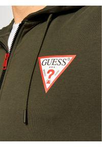 Guess Bluza M1RQ48 K6ZS1 Zielony Slim Fit. Kolor: zielony