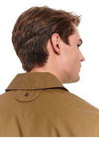 Beżowa kurtka TOP SECRET na jesień, w kolorowe wzory