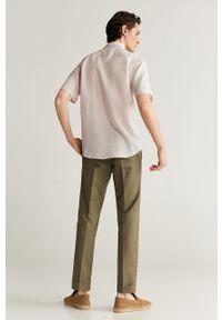 Koszula Mango Man z krótkim rękawem, na co dzień, z klasycznym kołnierzykiem, klasyczna
