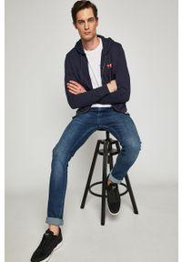 Niebieska bluza rozpinana Wrangler na co dzień, z kapturem, z nadrukiem #5