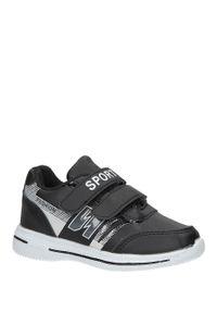 Casu - czarne buty sportowe na rzepy casu a2857-22. Zapięcie: rzepy. Kolor: czarny