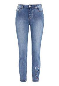 Niebieskie jeansy Cellbes z haftami