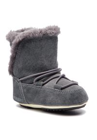 Szare buty zimowe Moon Boot