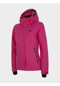 4f - Kurtka narciarska damska. Kolor: różowy. Materiał: mesh, materiał, poliester. Technologia: Dermizax. Sezon: zima. Sport: narciarstwo