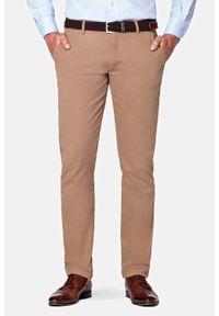 Lancerto - Spodnie Beżowe Chino Tommy II. Okazja: na co dzień. Kolor: beżowy. Materiał: tkanina, elastan, bawełna, materiał. Wzór: kolorowy. Styl: casual