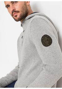 Szary sweter bonprix melanż, z kapturem