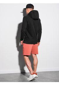 Ombre Clothing - Bluza męska z kapturem B1147 - czarna - XXL. Typ kołnierza: kaptur. Kolor: czarny. Materiał: bawełna