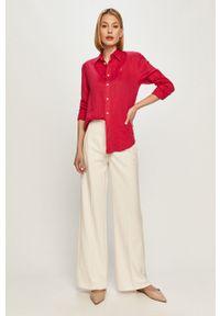 Różowa koszula Polo Ralph Lauren z długim rękawem, długa, polo