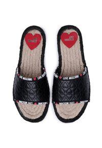 Czarne klapki Love Moschino