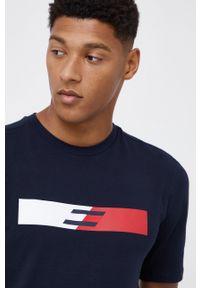 TOMMY HILFIGER - Tommy Hilfiger - T-shirt. Okazja: na co dzień. Kolor: niebieski. Wzór: nadruk. Styl: casual
