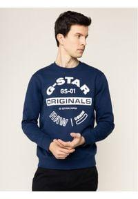 G-Star RAW - G-Star Raw Bluza Originals Logo Gr D16466-A612-1305 Granatowy Regular Fit. Kolor: niebieski