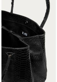 Czarna shopperka Answear Lab skórzana, na ramię, duża, wakacyjna