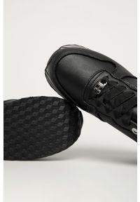 Czarne buty sportowe TOMMY HILFIGER na sznurówki, z okrągłym noskiem