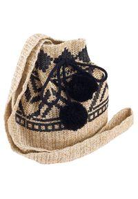 4U CAVALDI - Słomiany worek beżowo-czarny Cavaldi BAG-LB-06 KHAKI. Kolor: wielokolorowy, beżowy, brązowy, czarny. Sezon: lato