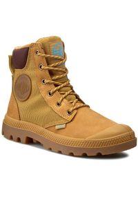Brązowe buty trekkingowe Palladium sportowe, z cholewką